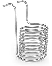 KLARSTEIN Chiller 6 disipador de Calor - Enfriador en Espiral del Mosto de Cerveza, 20 cm Ø, Espiral de 9 Vueltas, De 100 °C a Temperatura Ambiente en 30 min, Acero INOX 304, Plateado