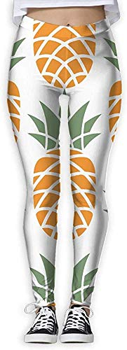 Irener Yoga-Hosen-Sport-Trainingsgamaschen Yellow Pineapple Provide Women with High-Waisted, Ultraweiche leichte Gym Yoga Leggings