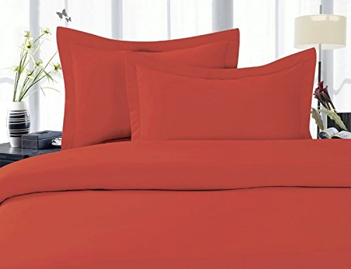 Elegant Comfort 1500 Thread Count Egyptian Quality Super Soft Wrinkle Free 4 pc Sheet Set, Deep Pocket - All size and Colors Great Deal, Queen Rust