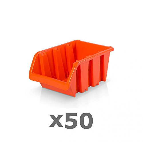 50 Stück Sichtlagerboxen Größe 2 - rotbraun (15,5 x 10 x 7 cm)