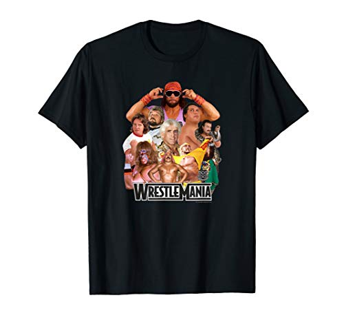 WWE Wrestlemania Collage T-Shirt