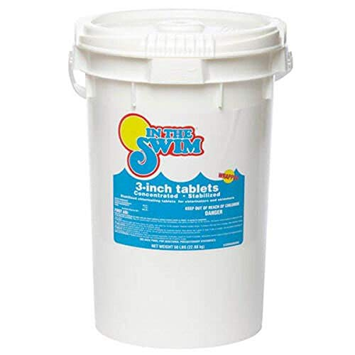 In The Swim 3 Inch Stabilized Chlorine Tablets for Sanitizing Swimming Pools - 50 Pounds