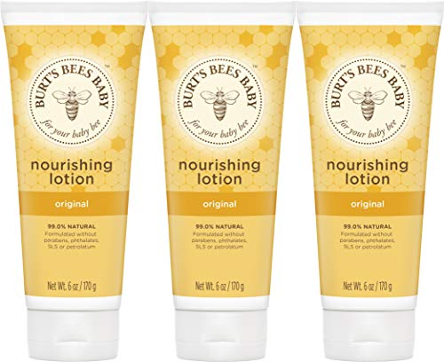 Burt's Bees Baby Nourishing Lotion, Original, 6 Ounces (Pack of 3) (Packaging...