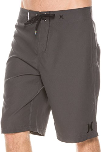 Hurley Men's One and Only Supersuede Boardshort, Anthracite Gray, 30