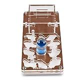 AntHouse - Hormiguero Acrílico NaturColor 10x20x1,5cm - Esponja con Depósito (Hormigas Gratis) (Marrón)
