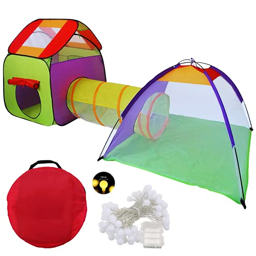 Tenda Per Bambini Casetta Cameretta Bambina Con Tunnel Tenda Gioco Bambino Da Interno Esterno E Giardino Capanna Bimbo Giochi Casetta Da Giardino Per Bambini Tenda Giocattolo Borsa Per Il Trasporto