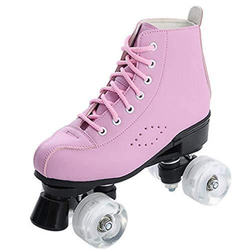 AMAZOM Rollschuhe Leuchten Räder Rollschuhe Zweireihige Rollschuhe Spaß Für Mädchen Und Damen Unisex,A,39