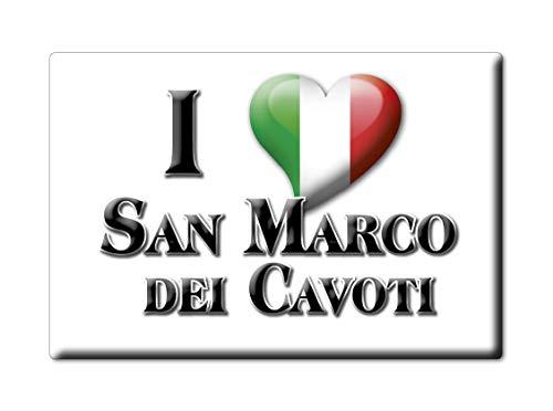 Enjoymagnets San Marco DEI CAVOTI Souvenir IMANES DE Nevera Campania IMAN Fridge Magnet Corazon I Love (VAR. GOCCIA)