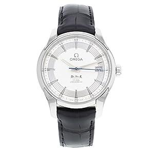 Omega De Ville Hour Vision Silver Dial Black Leather Mens Watch 43133412102001 image