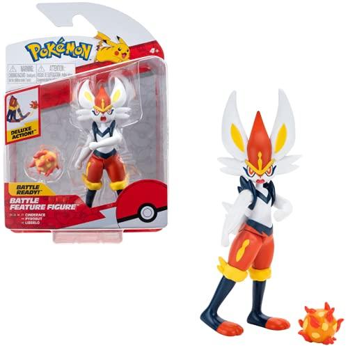 Pokemon Personaggi 10-12 cm, Cinderace – Giochi Pokemon Nuovo 2021 – Figurine Pokemon Action Figure - Licenza Ufficiale Pokemon Giocattoli