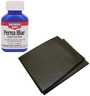 Westlake Market, Birchwood Casey Perma Blue Liquid Gun Blue Plus 2 Disposable Absorbent Pads for Gun Restoration Projects