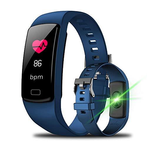 YUYLE Smartwatches merk voor dames Smart Watch voor mannen beste merk voor Android iOS sporthorloge voor mannen, Rosa Roja
