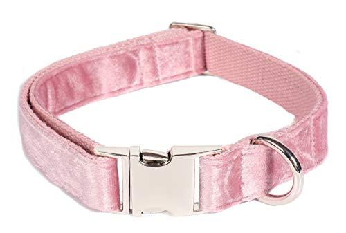 Bubblepup Dog Collar, Velvet Dog Collar, Classic Dog Collar Soft Comfortable Adjustable Collars for Dogs Small Medium Large