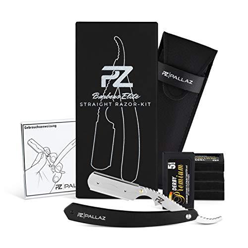 PALLAZ® Premium Rasiermesser-Set mit 50 Derby Wechselklingen inkl. hochwertigen Etui + Anleitung für die perfekte Rasur (Classic)