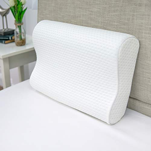 SensorPEDIC, White Luxury Extraordinaire Contour Oversized Memory Foam Pillow with Ventilated ICOOL Technology, 1'2