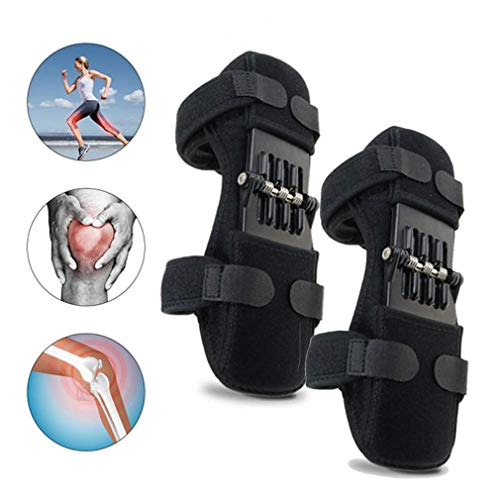 JUSHOOR Knee Protection Booste Pads Lift Joint Support Powerful Spring Force Old Cold Leg Protection...