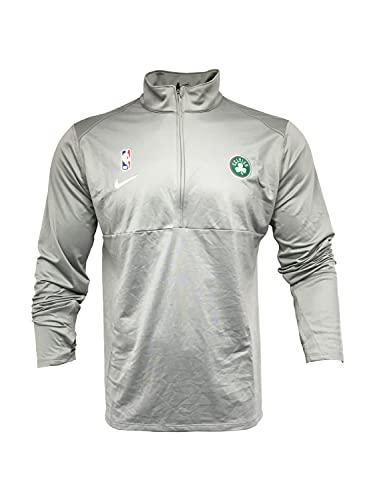 Nike Men's Boston Celtics 1/2 Zip Jacket 100% Polyester AT9259 Grey (Large)
