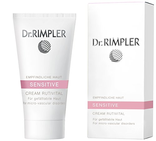 Dr. Rimpler Sensitive Gesichtscreme gegen Couperose I SOS-Creme bei trockener gereizter Haut I Feuchtigkeits-Serum