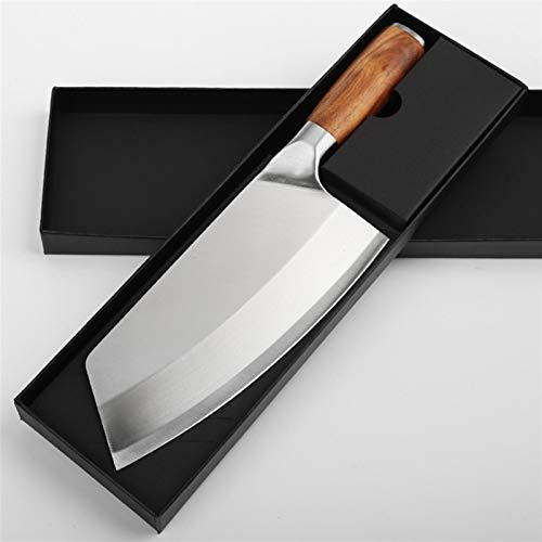 Cuchillo de cocinero chino cuchillo de acero inoxidable cuchillo de cocina cuchillo afilado cuchillo cuchillo cuchillo tajado cuchillo madera manija carnicero cuchillo juegos de cuchillos juego de cuc