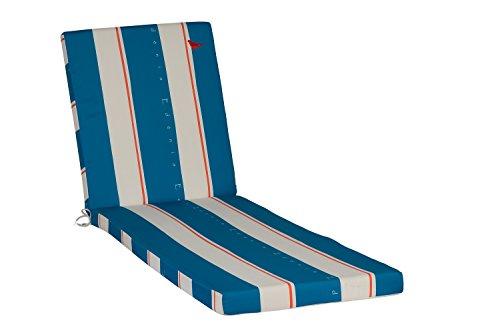 EDENIA Coussin bain de soleil Bleu Lagon/Blanc 186x56x70 cm 009750