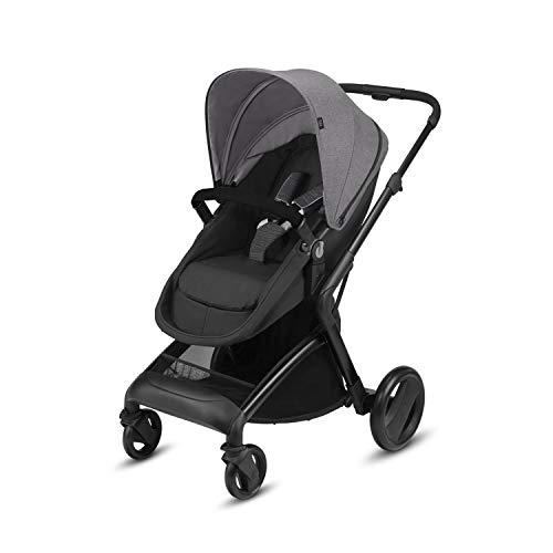 Cbx Bimisi Flex - Cochecito 2 en 1 con asiento/capazo reversible, incluye cubierta para lluvia, desde el nacimiento hasta los 15 kg, Comfy Grey