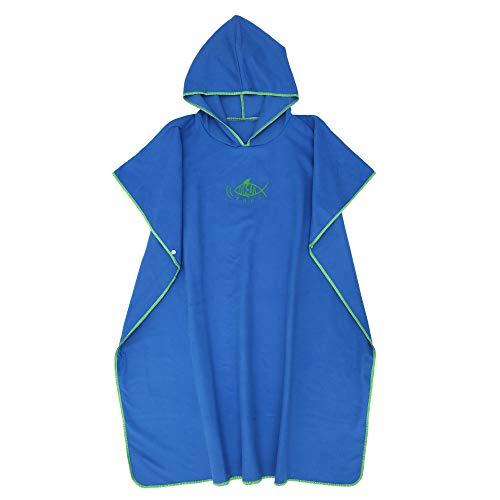 ATopoler - Toalla de microfibra para adulto, para cambio de vestido con capucha, ligera, secado rápido, para surf, natación, wakeboard, playa, hombres, mujeres, unisex, color azul oscuro