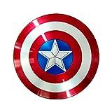 Escudo Capitan America Material ABS 1: 1 Adulto Apoyos de Película Niños Hierro ABS AméRica Shield Vengadores Retro Wall Creative Shield Bar Decoración Reloj De Pared A,58CM
