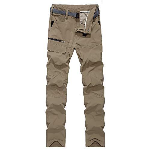 GITVIENAR Herren Outdoorhose Zwei Teile zerlegbar wandernde Hose schnell trocknende Freizeithose atmungsaktive Bequeme Hose für Jugendlich und Erwachsener