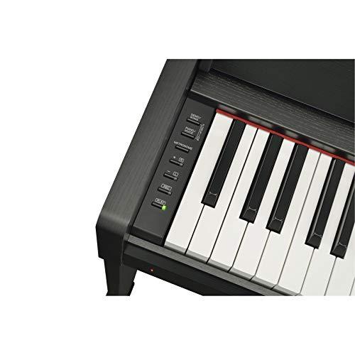 Yamaha Arius Digital Piano YDP-S34B, Pianoforte Digitale con Suono da Concerto, Connettore Host USB, Compatibile con l'Applicazione Smart Pianist, Nero