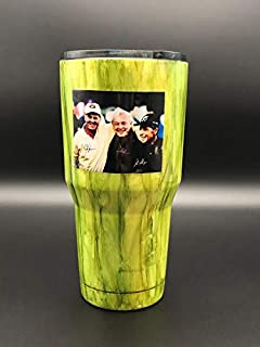 Jack Nicklaus, Gary Player & Arnold Palmer Autograph RP Photograph on hand painted Tumbler