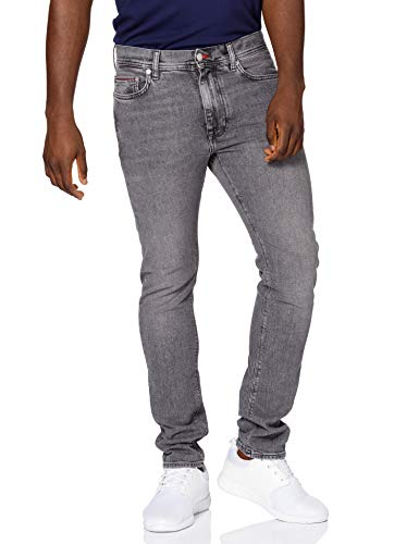 Tommy Hilfiger Slim Bleecker STR Grey Jeans, Gris Missouri, W32 / L30 Homme