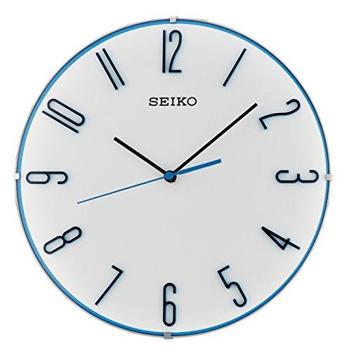 Seiko Wanduhr blau Kunststoff Schleichende Sekunde QXA672W