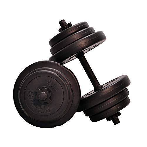 Focus Fitness - Juego de Mancuernas Cortas Ajustables para Adultos, 20 kg, Color Negro