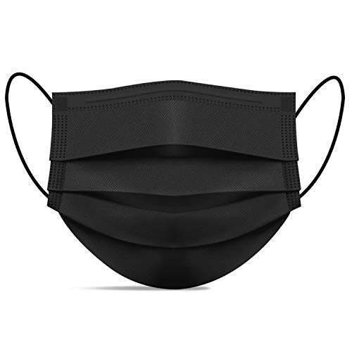 Disposable Face Masks of 50 Pack, Black