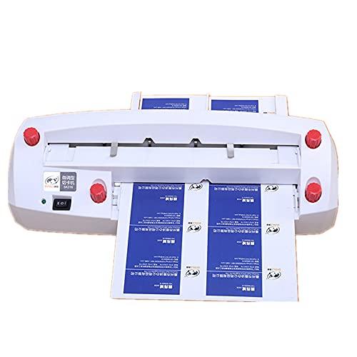 Cortador de tarjetas de visita Máquina de encuadernación automática Alimentación automática Cortador de tarjetas eléctrica de tarjeta de nombre ajustable para tarjeta de 3.3 x 2.1 pulgadas - 220 V