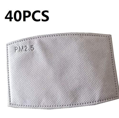Elemento filtrante PM2.5 protezione carbone attivo protezione antinquinamento antiappannamento guarnizione antiappannamento 40 PZ