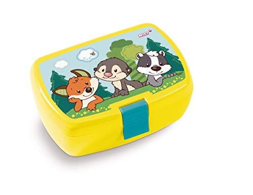 Nici 45464 Brotdose, Forest Friends, 18x12,5x6,5cm, gelb