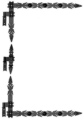 Winkelband Winkelbänder Türband Tor-Winkelband 800 +Kloben Schmiedeeisen Schwarz