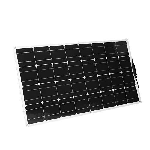 Ultradunne zonnecollector 18V 100W, semi-flexibel ontwerp, monokristallijne silicium zonnecollector voor buitengebruik Elk onregelmatig oppervlak geschikt, batterijlader voor auto / boot