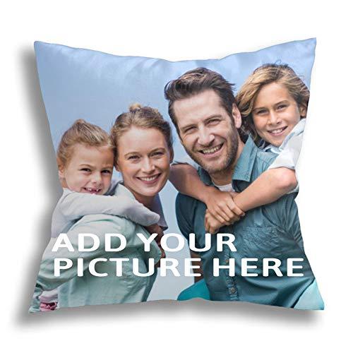 Sitanfo Cuscino Personalizzato con Foto e Scritte Compleanno Federa, Stampa la Tua Foto su Cuscino Personalizzato,Cuscini per Divano Decorativo con Foto per Festa della Mamma e papà,Anniversario