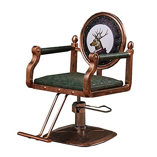 FLAMY Sillon barbero,Sillón de peluquería, sillón de peluquería hidráulico Universal, sillón Giratorio Elevador, Azul, Verde, Negro
