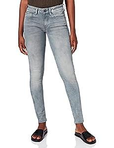 G-STAR RAW Damen Jeans 3301 Deconstructed Skinny, Blau (Medium Aged 9882-071), 27W / 32L