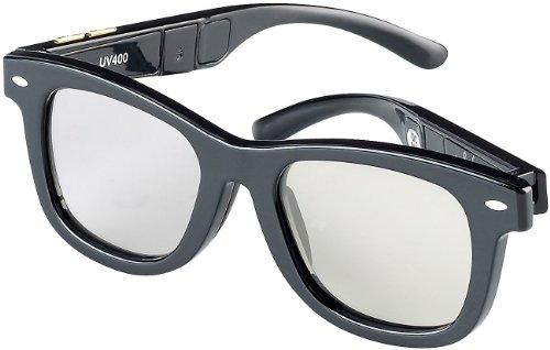 infactory Sonnenbrille LCD: Retro-Sonnenbrille mit einstellbarer Tönung (UV400) (Selbsttönende Sonnenbrille)