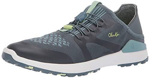 OluKai Miki Trainer Women's Athletic Shoes Iron/Mineral Blue - 11