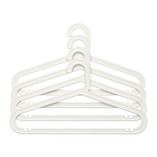 Ikea BAGIS -Kleiderbügel weiß / 4 Stück