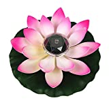 RENNICOCO Lumière de Lotus, décoration de Bassin Flottant Solaire Fleur de Lotus LED changeant de Couleur de Fleurs Nuit Lampe de lumière pour Pool Party Garden House
