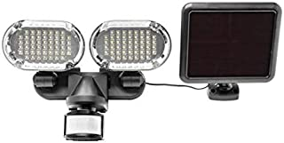Sunforce 100 LED Twin Head Solar Motion Light with Corner Mounting Feature