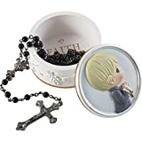 Precious Moments 202423 Faith is The Light That Guides You Boy Resin Box with Rosary, One Size, Multicolored