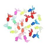 Toyvian 10 Unid Niños Pequeños Peces Juguetes Goldfish Divertidos Regalos Decoración Pecera Fiesta Favores Goldfish Modelo Set Niños Juguete para Hotel en Casa (Color Mezclado)