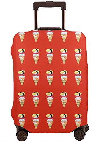 Ice Cream Sushi Travel Suitcase Cover Protector Luggage Protective Cover Washable Printed Zipper Baggage Suitcase Cover S